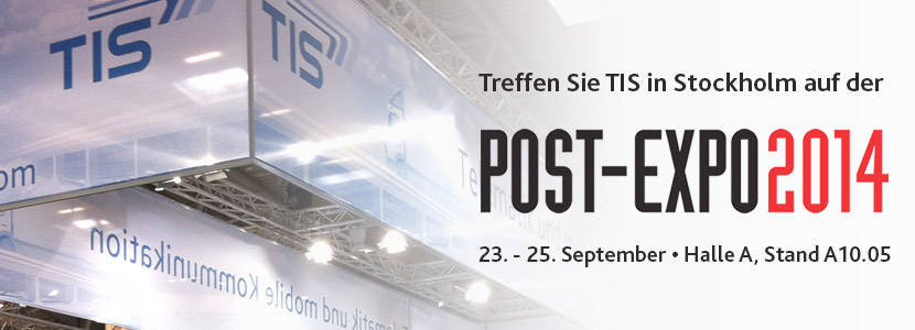 TIS auf der Post-Expo 2014 in Stockholm