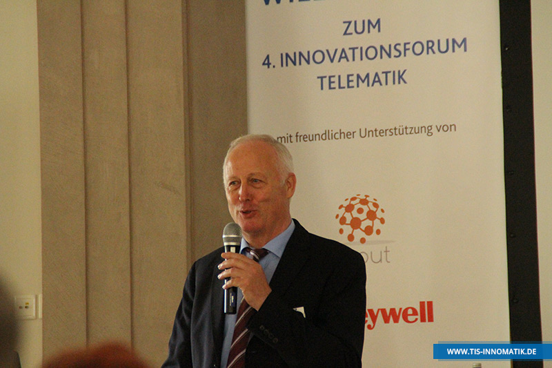 Josef Bielefeld, Gründer der TIS GmbH, auf der Telematik-Tagung InnoMATIK 2016