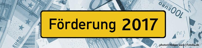 Förderprogramm De-Minimis auch 2017