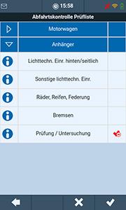 Abfahrtkontrolle in der TISLOG Logistik-Software