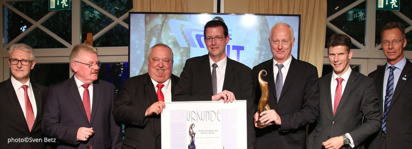 The TIS GmbH is company of the year 2016 in Bocholt