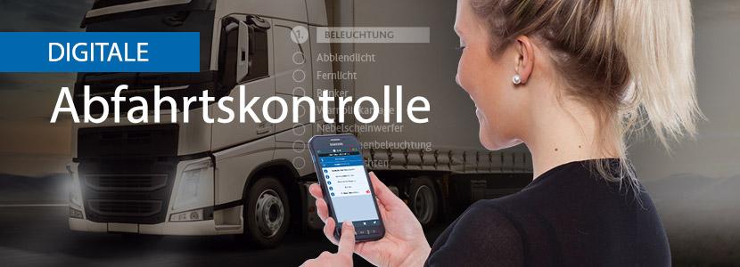 Neue App für LKW-Fahrer zur digitalen Abfahrtskontrolle