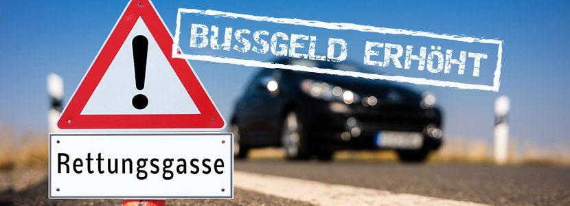Rettungsgasse – Bußgelder verschärft!