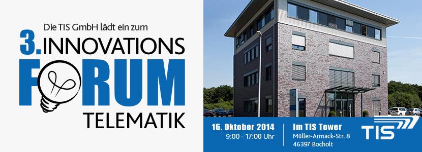 3. Innovationsforum Telematik bei TIS