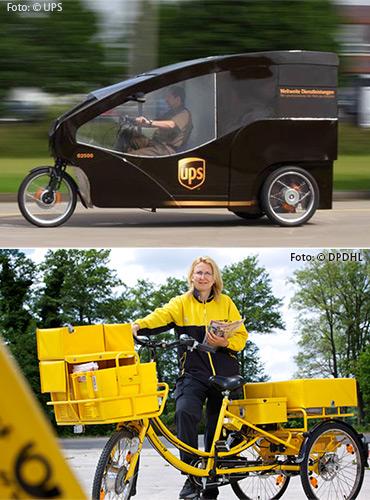 Lastenfahrräder - Trend der KEP-Branche