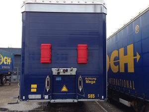 Montage der Truckbox an der Stirnseite des Trailers wird empfohlen