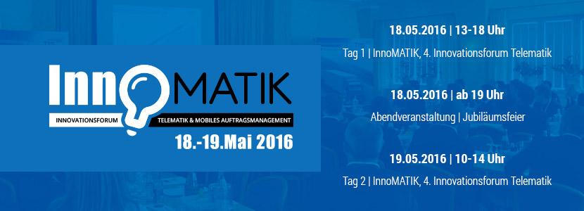 Fachveranstaltung: Wir laden ein zum 4. Innovationsforum InnoMATIK im Mai 2016