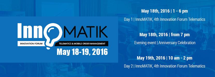 Trade event: 4th innovation forum InnoMATIK in May 2016
