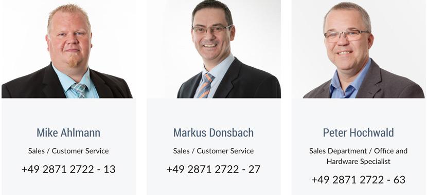 TIS GmbH Sales colleagues