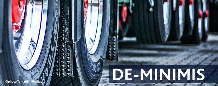 De-minimis funding 2021 – things to consider